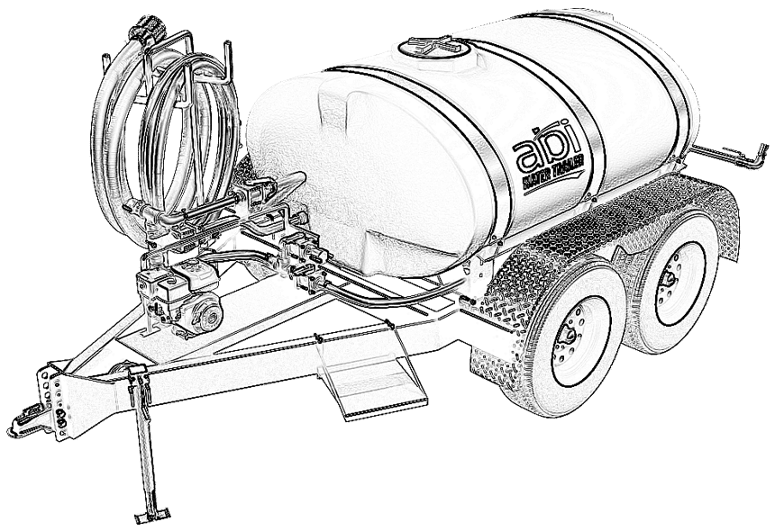 500 Gallon Water Line Drawing
