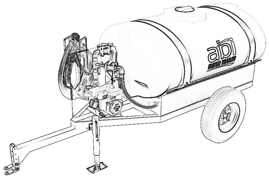 Water Trailer Line Drawing